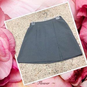 (5/6) Gray Vintage Polyester Mini Skirt